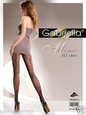 Gabriella Strumpfhose Monic mit Naht schwarz 20 DEN