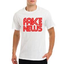 Logotipo de estación de noticias CNN falso presidente EE. UU. Donald Trump Blanco/Negro T-Shirt