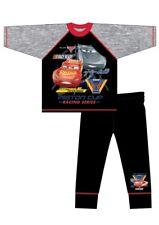 Boys Kids Character Cars Pyjamas Nightwear PJs 100% Cotton Grey Black