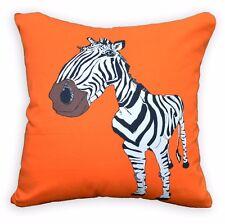 LL418a Black White Orange Brown Zebra High Quality Cotton Canvas Cushion Cover