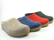 Haflinger Schuhe Damen Herren Hausschuhe Pantoffeln Wolle Grizzly Torben 713001