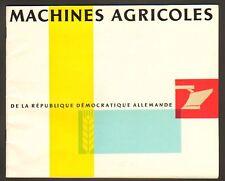 """TRACTEURS & MACHINES AGRICOLES """"DLT"""" en ALLEMAGNE ,1950"""