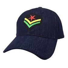 Rasta Jeans Cap Hat Rastafari Emblem Jamaica Hat Ball Cap Reggae Marley 1sz Fit