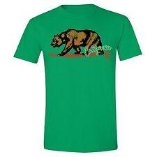 California Republic State T-Shirt Summer Flag Bear Surfing Vintage Cali Tshirt
