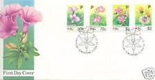 FDC S'pore Phila Nipon  flora 16.11.1991