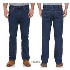 Farah Mens Designer Vintage Darwin Rigid Straight Leg Jeans Indigo BNWT