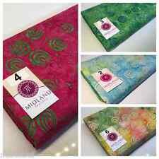 Swirl and dot design contrasting colours Bali batik fabric 100% Cotton M525 Mtex