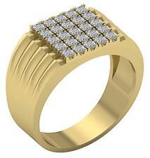 Engagement Ring 11.45 Mm 14K Yellow Gold Genuine Diamond Si1 G 1.10 Carat Mens