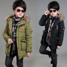 Kids Boys Hooded Warm Quilted Puffer Coat Jacket School Trendy Parka Warm Winter
