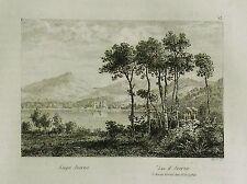 1835:Napoli = POZZUOLI,Lago D'AVERNO = Pouzzoles.Campania.Passpartout.AUDOT.ETNA