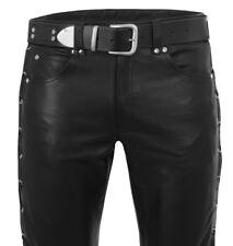 SCHNÜRLEDERHOSE Lederhose neu Schnürjeans leather trousers pants black lacing