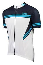 NEW EIGO BICYCLE ROAD XC MTB CYCLING SHORT SLEEVE JERSEY WHITE/BLACK/BLUE