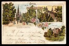 1899 multi-view oldenburg germany pioneer postcard