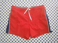 Costume Boxer COLMAR - Rosso/Blu Fasce Lat.con Bottoni-Mare Piscina-72241QF 770
