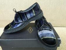 Adieu Paris Shoes Velvet Lace Up Tartan Plaid Type 1 NIB $595 38, 38.5 FR