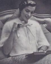 Vintage Knitting PATTERN to make Angora Bed Jacket Sweater Warm Fuzzy BBAngora