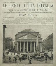 1887=LE CENTO CITTA D'ITALIA=ROMA ANTICA.LAZIO.ITALIA..