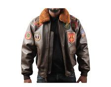 Top Gun Official Signature Bomber Brown Men's Jacket TOPGUN1-BROWN