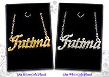 Collane personalizzata 18ct / 18K Oro Placcato nome gioielli ciondolo moda REGALI
