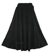 Black Women BOHO Gypsy Long Maxi Tiered Skirt 18 20 1X 2X