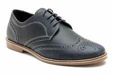 RED TAPE checkley Cuero Auténtico Hombre Informal Zapatos Oxford Azul Marino