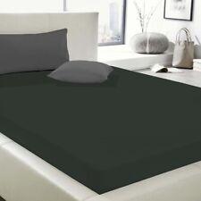 Elastic-Jersey-Spannbetttuch in Titanium 180-200/200-220 cm