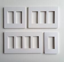 Screwless Decorator Rocker Switch Wall Plate Unbreakable 1 2 3 4 Gang White