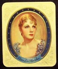 Clara Lou Sheridan 1934 Garbaty Film Star Series 1 Embossed Cigarette Card #178