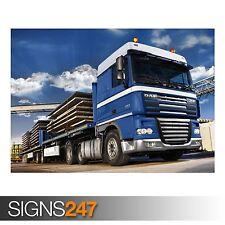 Blue DAF XF105 Truck (AC021) Poster-Photo Poster print ART A0 à A4