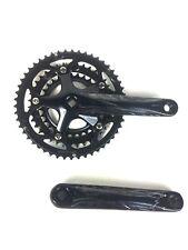 Bicycle Crank Lasco Triple Chainring Crankset 3/32*30/39/50T 170mm Black/Silver