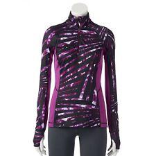 NEW Tek Gear Womens Athletic 1/2 Zip Jacket Running Yoga Pullover XS S M $79 NWT