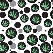 Wrap Wrapping Paper Pattern Marijuana Pot Weed Bud Ganja Green Mary Jane Leaf