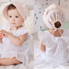 Enfant Bébé Fille Chapeau Visière Dentelle Floral Respirant Bonnet Réglable Mode
