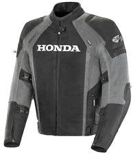 Honda VFR Mesh Street Motorcycle Jacket with Armor (Black/Gunmetal) All Sizes