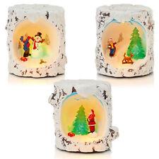 Weihnachtsdekoration - LED Winter Szene - Baum Stumpf Optik - Design Wählbar