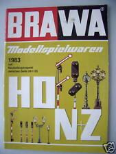 BRAWA Modellspielwaren 1983 Neuheitenprospekt Eisenbahn