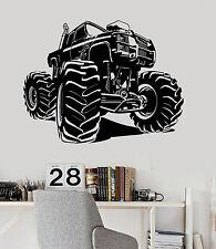 Vinyl Wall Decal Monster Truck Garage Decor Car Stickers (ig3906)