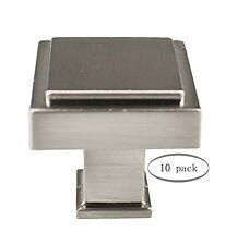Urbanest Arthur Cabinet Hardware Knobs, Brushed Satin Nickel, 1 1/8-inch square