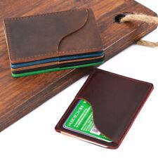 100% Cowhide Leather Business Credit Card Holder Multi-card Men& Women's Vintage
