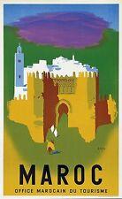 Vintage Maroc Tourisme Poster A3 imprimer