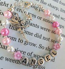Girls personalised fairy bracelet bridesmaid/birthday/first holy communion