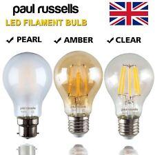 LED FILAMENT 4W 6W 8W Pearl RETRO Clear GLS Standard BULB B22 BC ES E27 Lights