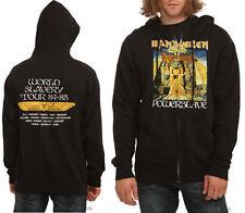 Iron Maiden Powerslave 84-85 Zip Hoodie Hoody Hooded Sweatshirt Adult Men S NWT