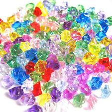 150*Acrylic Stones Crystal Gem Ice Rocks Plant Sunshine Colorful Fish Tank Decor