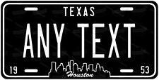 Houston Texas Customized BLK License Plate Novelty for Auto ATV Bike Motorcycle
