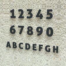 Edle Design Hausnummer - Edelstahl Modern 15 20 30 cm - RAL 7016 anthrazit-grau