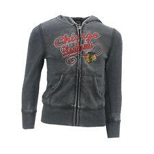 Chicago Blackhawks Official NHL Kids Youth Girls Size Full Zip Hooded Sweatshirt