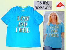 modernes Damenshirt  T.-Shirt Tunika Gr. 46-54 NEU Baumwolle  türkis