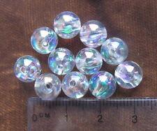70 ronde 8mm Lisse AB perles acrylique en plastique transparent choisir couleur