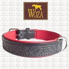 Premium Hundehalsband Vollleder WOZA Lederhalsband Rindnappaleder ОШЕЙНИК E23595